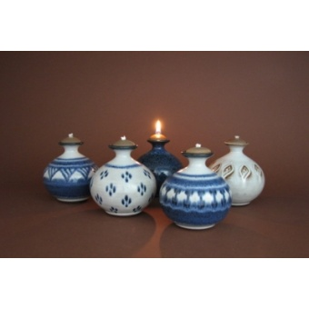 Oil Candles BM, BD, DB, BA & IVL Waitsfield Pottery